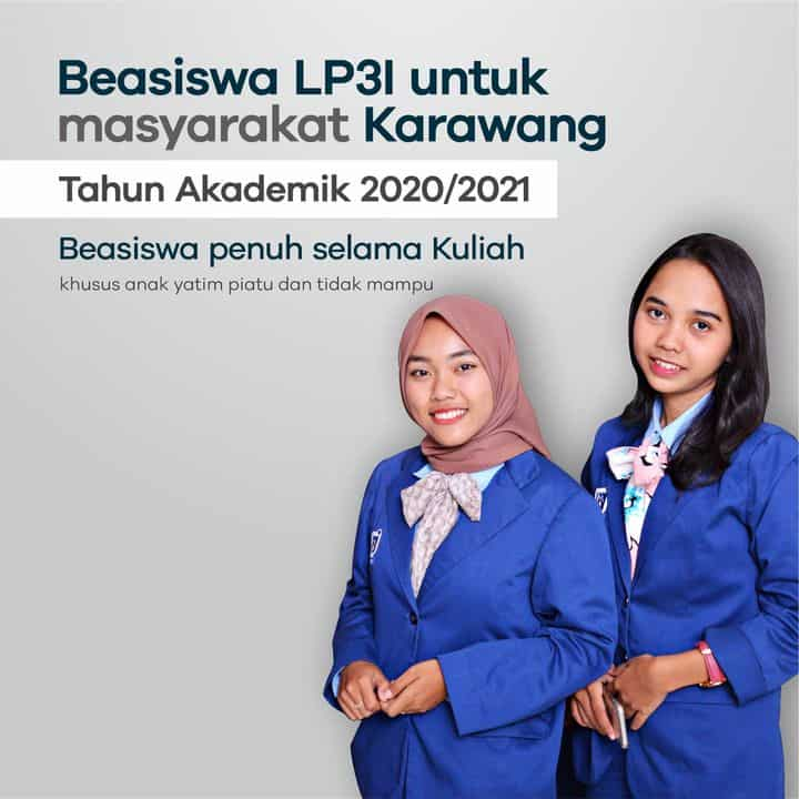 Beasiswa LP3I Untuk Masyarakat Karawang Tahun Akademik 2020/2021